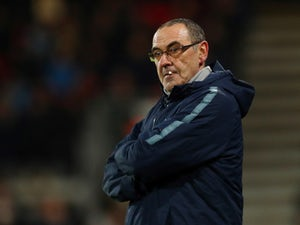 Unimpressed Chelsea manager Maurizio Sarri on January 30, 2019