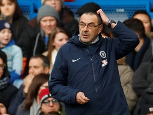 Chelsea manager Maurizio Sarri watches on during the Premier League clash with Newcastle on February 2, 2019