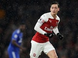Mesut Ozil in action for Arsenal on January 29, 2019