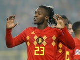 Michy Batshuayi in action for Belgium in November 2018
