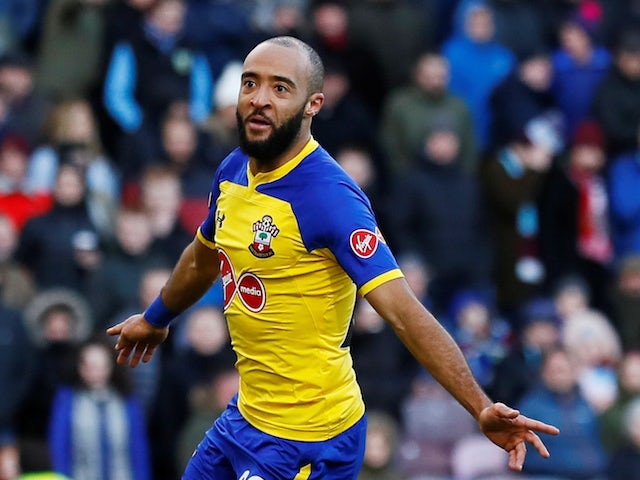 Southampton's Nathan Redmond celebrates after scoring against Burnley on February 2, 2019