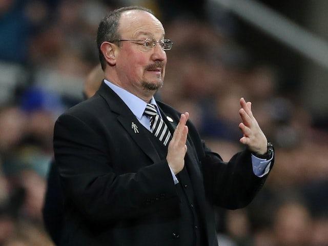 Rafael Benitez in charge of Newcastle United on January 29, 2019