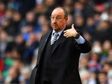 Newcastle United manager Rafael Benitez watches on during the Premier League clash with Tottenham on February 2, 2019