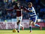 Aston Villa's Albert Adomah in action with Reading's John Swift on February 2, 2019