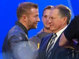 LA Rams head coach Sean McVay meets New England Patriots head coach Bill Belichick ahead of Super Bowl LIII