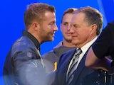 LA Rams head coach Sean McVay meets New England Patriots head coach Bill Belichick ahead of Super Bowl LIII