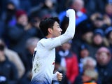 Tottenham's Son Heung-min celebrates scoring against Newcastle on February 2, 2019