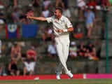 England's Stuart Broad in happier times against West Indies on February 1, 2019
