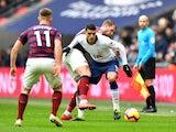 Erik Lamela tries to break clear in Tottenham Hotspur's Premier League meeting with Newcastle United on February 2, 2019