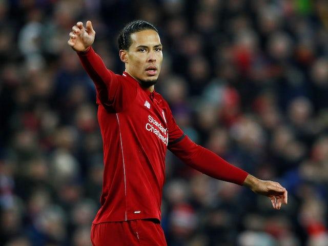 Virgil van Dijk in action for Liverpool on January 19, 2019