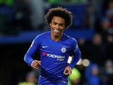 Willian in action for Chelsea in the FA Cup on January 27, 2019