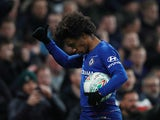 Willian in action for Chelsea in the EFL Cup on January 24, 2019