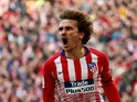 Atletico Madrid's Antoine Griezmann celebrates scoring against Real Madrid in La Liga on February 9, 2019.