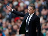 Leicester City manager Claude Puel watches on during his side's Premier League clash with Tottenham Hotspur on February 9, 2019