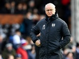 Fulham manager Claudio Ranieri watches on during his side's Premier League clash with Manchester United on February 9, 2019