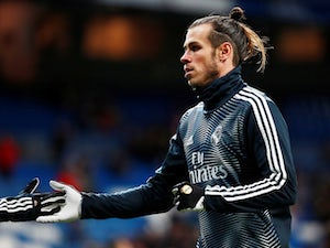 Gareth Bale warms up for Real Madrid on February 3, 2019