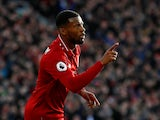 Liverpool midfielder Georginio Wijnaldum celebrates scoring against Bournemouth on February 9, 2019