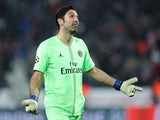 Paris Saint-Germain goalkeeper Gianluigi Buffon pictured in December 2018