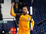 Glenn Murray celebrates scoring for Brighton & Hove Albion on February 6, 2019