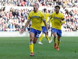 Leeds United's Kalvin Phillips celebrates equalising against Middlesbrough on February 9, 2019