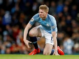 Kevin De Bruyne in action for Manchester City on February 3, 2019