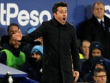 Everton manager Marco Silva watches on against Manchester City in the Premier League on February 6, 2019