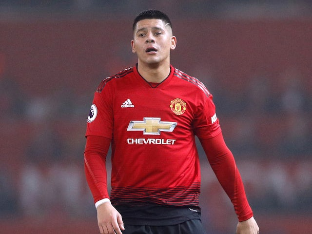 Marcos Rojo pictured for Manchester United in December 2018