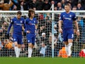 Chelsea's dejected players react after conceding for a fourth time against Manchester City on February 10, 2019