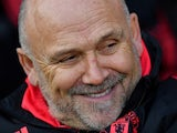 Manchester United assistant Mike Phelan watches on during his side's Premier League clash with Fulham on February 9, 2019