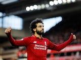 Liverpool forward Mohamed Salah celebrates scoring against Bournemouth on February 9, 2019