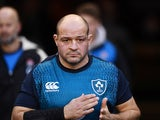 Ireland captain Rory Best leads the warm-up ahead of the Six Nations match against England on February 2, 2019