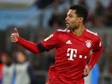 Bayern Munich's Serge Gnabry celebrates scoring against Schalke on February 9, 2019