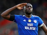 Cardiff City captain Sol Bamba celebrates after scoring against Southampton on February 9, 2019