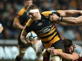 Wasps' Thomas Young in action in January 2019