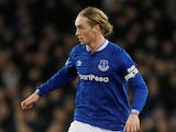 Everton midfielder Tom Davies in action against Manchester City in the Premier League on February 6, 2019