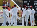 West Indies celebrate during the third Test against England on February 10, 2019