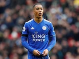 Leicester City midfielder Youri Tielemans in action against Tottenham on February 10, 2019