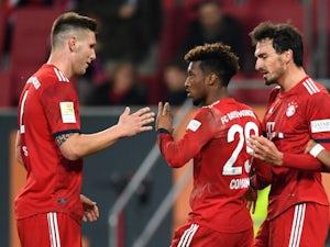 Bayern Munich players celebrate Kingsley Coman's goal against Augsbury on February 15, 2019