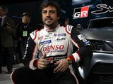 Fernando Alonso pictured on January 14, 2019