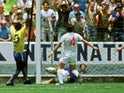 Gordon Banks saves Pele's shot during the 1970 World Cup