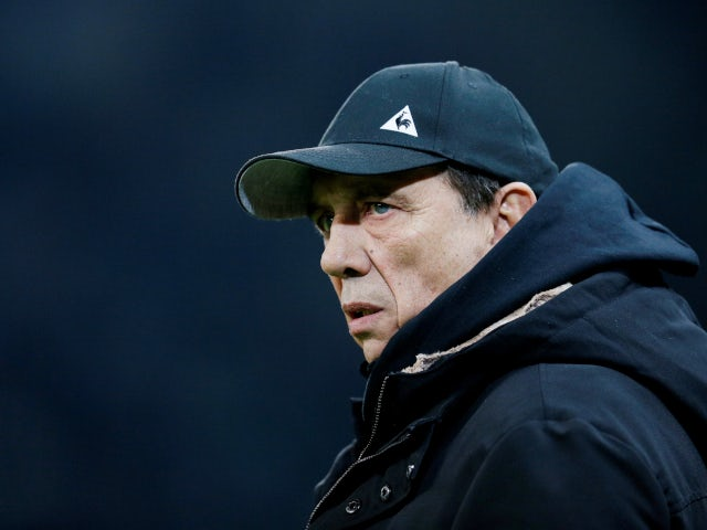 Jean-Louis Gasset as Saint-Etienne manager in January 2019.