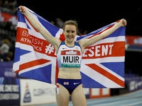Laura Muir pictured on February 16, 2019