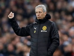 Borussia Dortmund head coach Lucien Favre watches on during the Champions League clash with Tottenham Hotspur on February 13, 2019