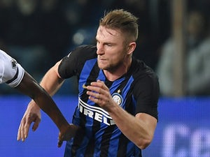 Inter Milan defender Milan Skriniar in action in February 2019