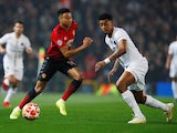 Manchester United midfielder Jesse Lingard comes up against Presnel Kimpembe of PSG in their Champions League clash on February 12, 2019