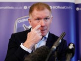 Paul Scholes is unveiled as the new Oldham Athletic manager on February 11, 2019