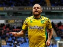 Teemu Pukki celebrates scoring for Norwich City on February 16, 2019
