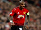 Ashley Young in action for Manchester United on February 16, 2019