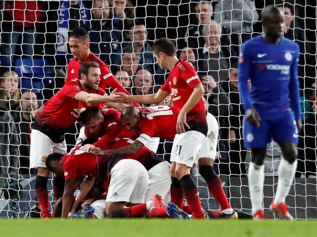 Image result for Man Utd knock-out Chelsea from FA Cup