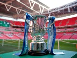 A general shot of the EFL Cup / League Cup trophy ahead of the 2019 final between Chelsea and Manchester City on February 24, 2019
